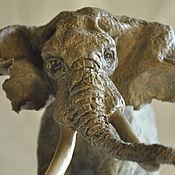Для дома и интерьера ручной работы. Ярмарка Мастеров - ручная работа Молодой слон. Статуэтка. Животные  ручной работы.. Handmade.