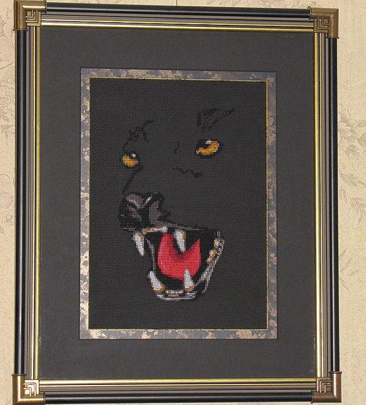 Животные ручной работы. Ярмарка Мастеров - ручная работа. Купить Пантера. Handmade. Пантера, животные, природа, в раме, за стеклом