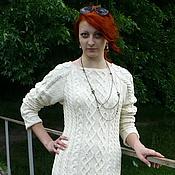 Одежда ручной работы. Ярмарка Мастеров - ручная работа платье вязанное спицами косами и аранами. Handmade.