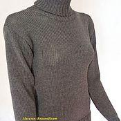 """Одежда ручной работы. Ярмарка Мастеров - ручная работа Свитер.Свитер спицами. Вязаный свитер.""""Серый"""".Водолазка.. Handmade."""