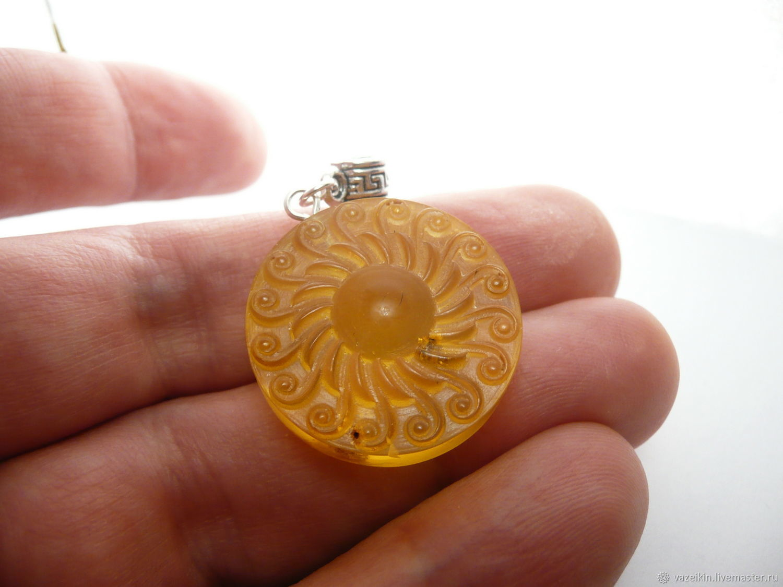 Amber sun pendant thread k 503 shop online on livemaster with pendants handmade livemaster handmade buy amber sun pendant thread k 503 aloadofball Gallery