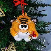 Куклы и игрушки handmade. Livemaster - original item Tigranchik-ball on the Christmas tree 2. Handmade.