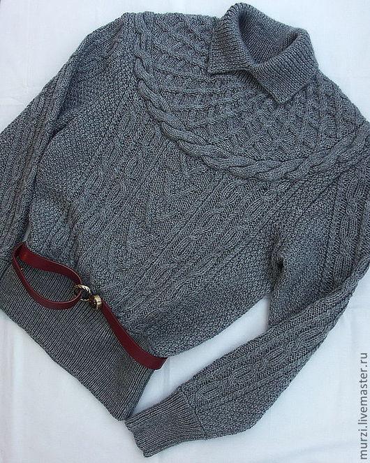 Кофты и свитера ручной работы. Ярмарка Мастеров - ручная работа. Купить Серая сеть. Handmade. Серый