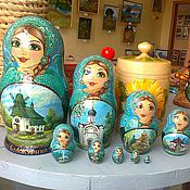 Русский стиль handmade. Livemaster - original item Matryoshka is a symbol of the city. Handmade.