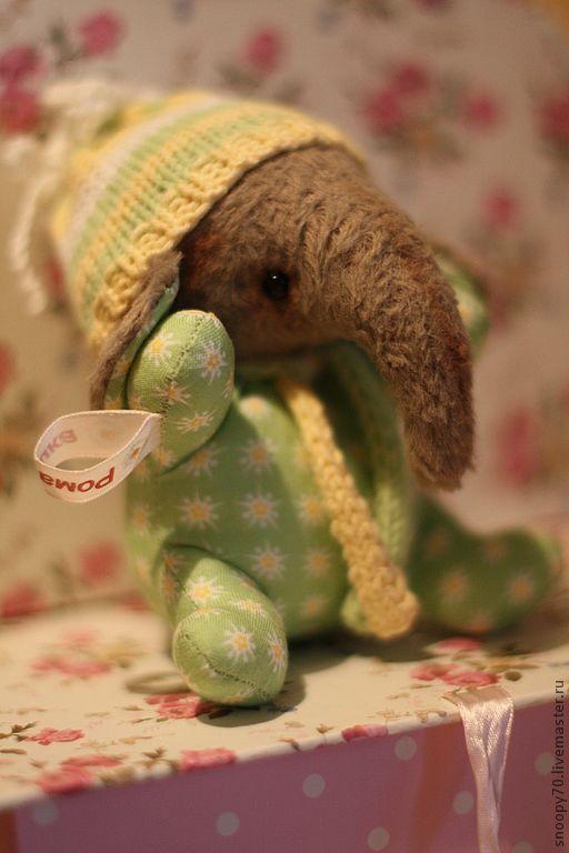 Мишки Тедди ручной работы. Ярмарка Мастеров - ручная работа. Купить Слоник в ладошку. Handmade. Салатовый, игрушки, холлофайбер