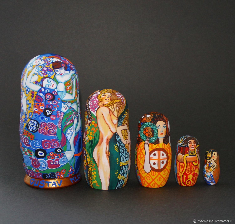 Matryochka Dolls handmade. Livemaster - handmade. Buy Matryoshka Gustav Klimt (Gustav Klimt) ...