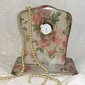 """Для дома и интерьера ручной работы. Ярмарка Мастеров - ручная работа Часы """" Дикие розы"""". Handmade."""