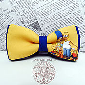 Аксессуары handmade. Livemaster - original item Tie Simpsons/ Homer/Simpson family/ butterfly with the Simpsons. Handmade.