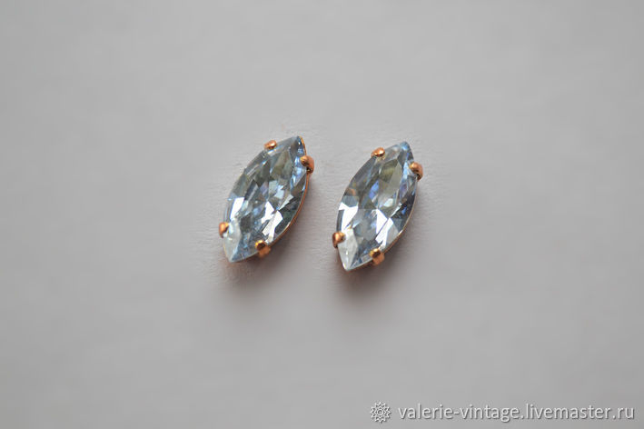 Swarovski crystals 15h7mm. color Blue Shade, Crystals, Moscow,  Фото №1