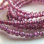handmade. Livemaster - original item Beads: Pink garnet 10 pieces. Handmade.