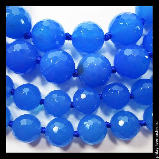 Для украшений ручной работы. Ярмарка Мастеров - ручная работа. Купить Халцедон (10мм, 8мм). Handmade. Синий, бусины