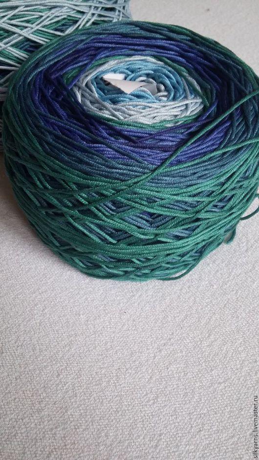Вязание ручной работы. Ярмарка Мастеров - ручная работа. Купить Океан. Handmade. Комбинированный, синий, секционный, хлопок 100%