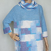 """Одежда ручной работы. Ярмарка Мастеров - ручная работа Пуловер пэчворк  альпака-мохер-меринос """"Микс"""". Handmade."""