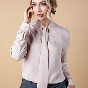 Одежда handmade. Livemaster - original item Blouse MARGARET cotton 100%. Handmade.