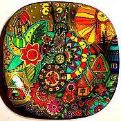 """Тарелки ручной работы. Ярмарка Мастеров - ручная работа Тарелка декоративная """"Башня, растущая к свету"""".. Handmade."""