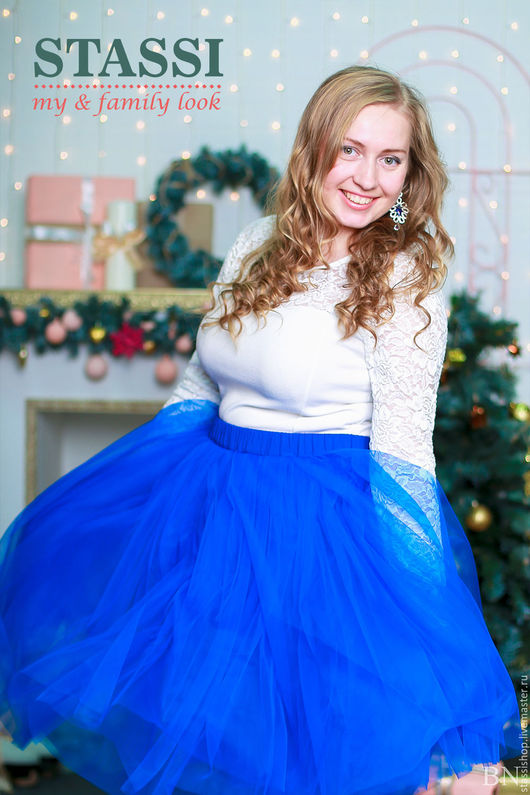 Юбки ручной работы. Ярмарка Мастеров - ручная работа. Купить Юбка-пачка из фатина, пышная юбка синего цвета. Handmade.