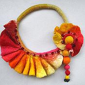 Украшения ручной работы. Ярмарка Мастеров - ручная работа Ожерелье из войлока. Handmade.