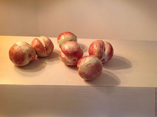 Комплекты аксессуаров ручной работы. Ярмарка Мастеров - ручная работа. Купить Персики зелено-розовые. Handmade. Комбинированный, зеленый, кухня