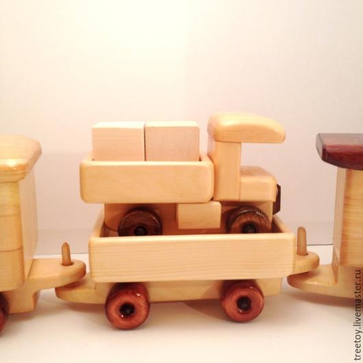 Техника ручной работы. Ярмарка Мастеров - ручная работа. Купить Вагон с грузовичком. Handmade. Деревянная игрушка, игрушка в подарок