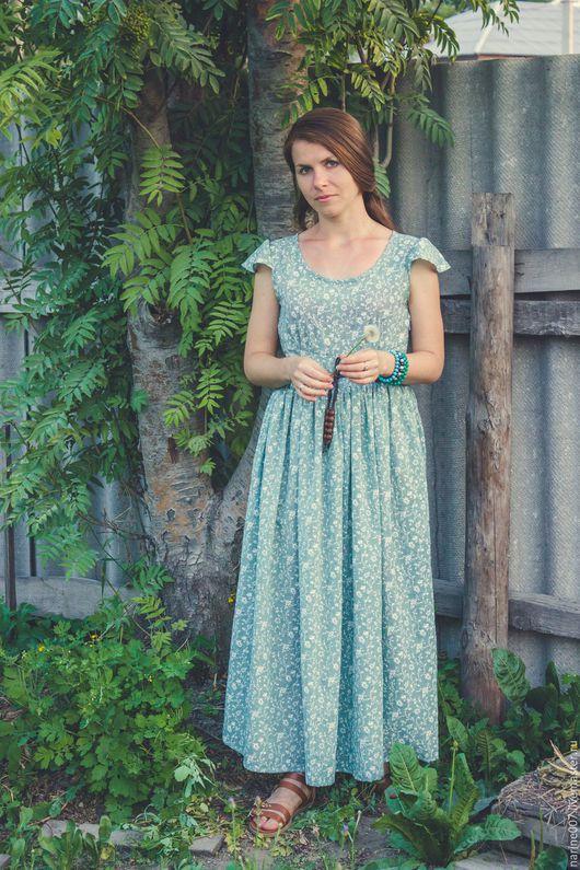 """Платья ручной работы. Ярмарка Мастеров - ручная работа. Купить Платье """"легкость"""". Handmade. Мятный, платье зеленое, мода"""