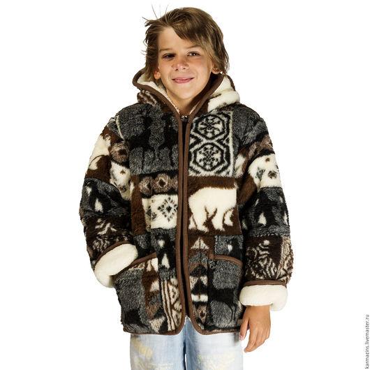 Верхняя одежда ручной работы. Ярмарка Мастеров - ручная работа. Купить Курточка детская, шерсть Мериноса НОРДИК. Handmade. Шерсть