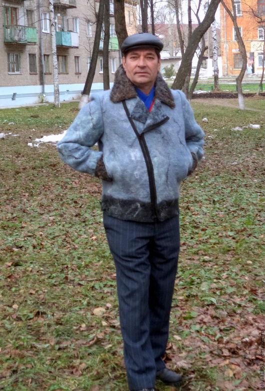 """Верхняя одежда ручной работы. Ярмарка Мастеров - ручная работа. Купить Валяная куртка """" Дуэт"""". Handmade. Серый"""
