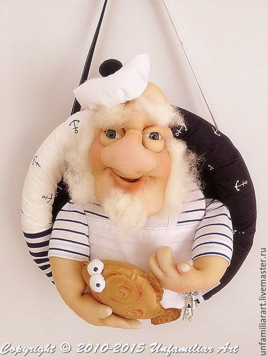 """Подарки для мужчин, ручной работы. Ярмарка Мастеров - ручная работа. Купить Текстильная кукла-панно """"Ужин капитана Флинта"""".Текстильная кукла. Handmade."""