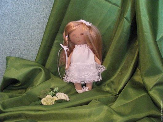 Коллекционные куклы ручной работы. Ярмарка Мастеров - ручная работа. Купить Дюймовочка. Handmade. Белый, подарок на любой случай