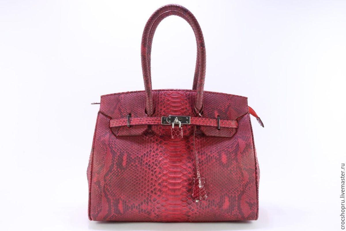 Handbags handmade. Livemaster - handmade. Buy Bag made from Python IMP0030R2.Bag, red handbag, women's bag leather