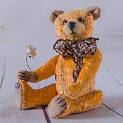 Мишки Тедди ручной работы. Ярмарка Мастеров - ручная работа Мишка тедди Апельсинчик. Handmade.