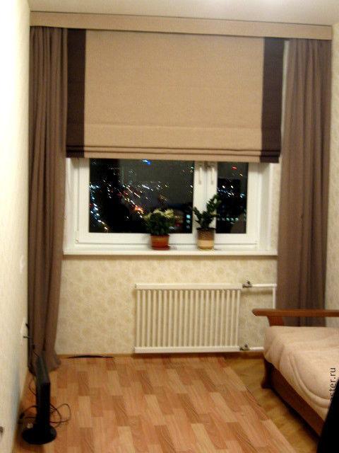 Текстиль, ковры ручной работы. Ярмарка Мастеров - ручная работа. Купить Римские шторы в комнату молодого человека. Handmade. шторы