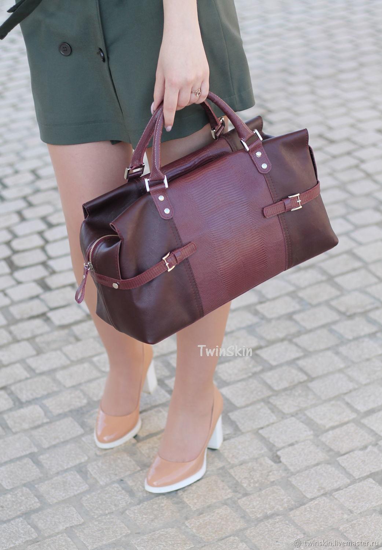 c640b86dd9a9 Купить Бонжур мадам, сумка Женские сумки ручной работы. Бонжур мадам, сумка  кожаная женская, бордовая сумка.