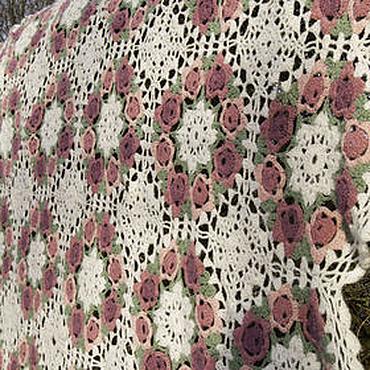 Для дома и интерьера ручной работы. Ярмарка Мастеров - ручная работа Прованская Роза, покрывало для романтической спальни. Handmade.
