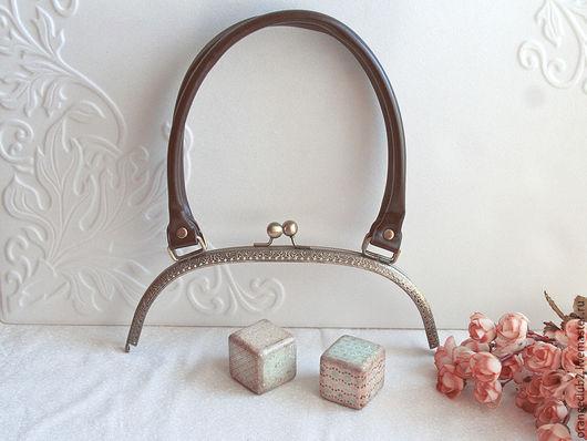 Другие виды рукоделия ручной работы. Ярмарка Мастеров - ручная работа. Купить 25 см Фермуар с ручками дуга. Handmade.