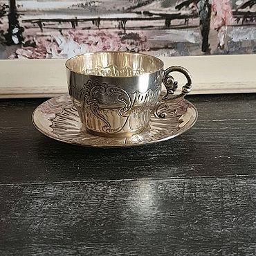 Винтаж ручной работы. Ярмарка Мастеров - ручная работа РезервКофейная пара, Франция, серебрение. Handmade.