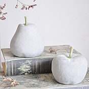 Для дома и интерьера handmade. Livemaster - original item Figurine Apple and Pear set of 2 PCs decor for kitchen Provence. Handmade.