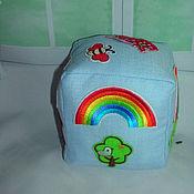Куклы и игрушки ручной работы. Ярмарка Мастеров - ручная работа Развивающий кубик для мальчика. Handmade.