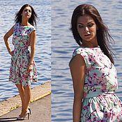 Одежда ручной работы. Ярмарка Мастеров - ручная работа Платье Селестина - платье короткое / платье летнее. Handmade.