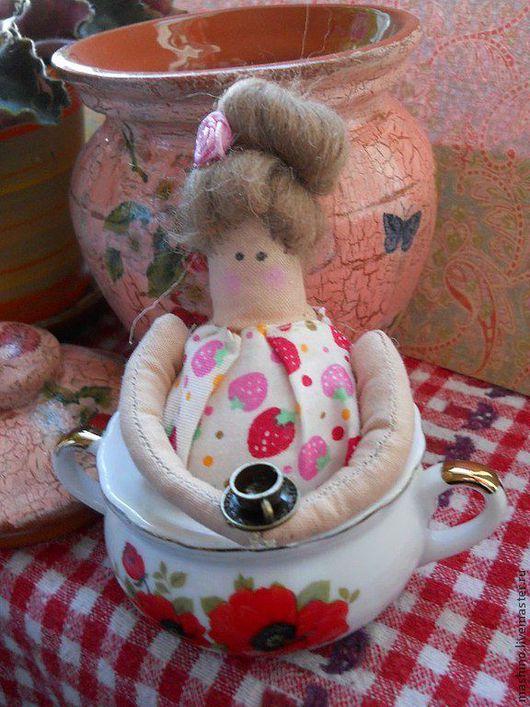 """Куклы Тильды ручной работы. Ярмарка Мастеров - ручная работа. Купить Миссис """"Пепперпот"""". Handmade. Фуксия, кухня, хозяйка"""