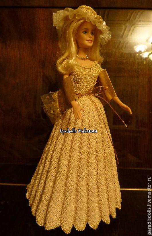 Одежда для кукол ручной работы. Ярмарка Мастеров - ручная работа. Купить Бальное платье. Handmade. Золотой, одежда для кукол