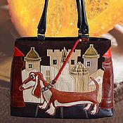"""Сумки и аксессуары ручной работы. Ярмарка Мастеров - ручная работа Кожаная сумочка """"рыжий пес"""". Handmade."""