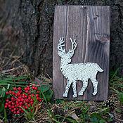 """Картины и панно ручной работы. Ярмарка Мастеров - ручная работа """"Олень"""" в технике String Art. Handmade."""