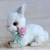 Куклы и игрушки ручной работы. Ярмарка Мастеров - ручная работа Кролик София авторская игрушка тедди. Handmade.
