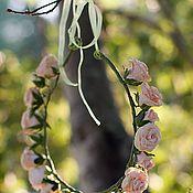 Украшения ручной работы. Ярмарка Мастеров - ручная работа венок для невесты из кустовой розы. Handmade.