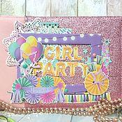 Фотоальбомы ручной работы. Ярмарка Мастеров - ручная работа Альбом для девочки, девушки. Handmade.