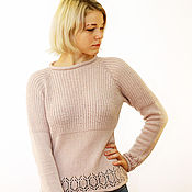 Одежда handmade. Livemaster - original item Knitted sweater with detachable collar Charm. Handmade.