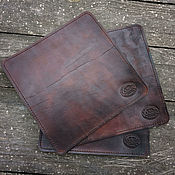 Для дома и интерьера handmade. Livemaster - original item Leather backing for a plate. Handmade.