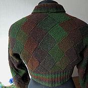 Одежда handmade. Livemaster - original item The Forest shrug knitted wool entrelac. Handmade.