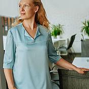 Одежда handmade. Livemaster - original item Silk blouse, Nile water. Handmade.