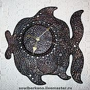 Для дома и интерьера ручной работы. Ярмарка Мастеров - ручная работа Часы настенные Рыба-Глазунья. Handmade.